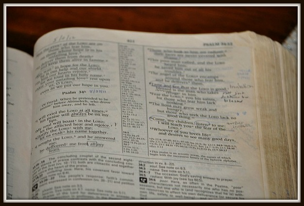 Bible closeup framed