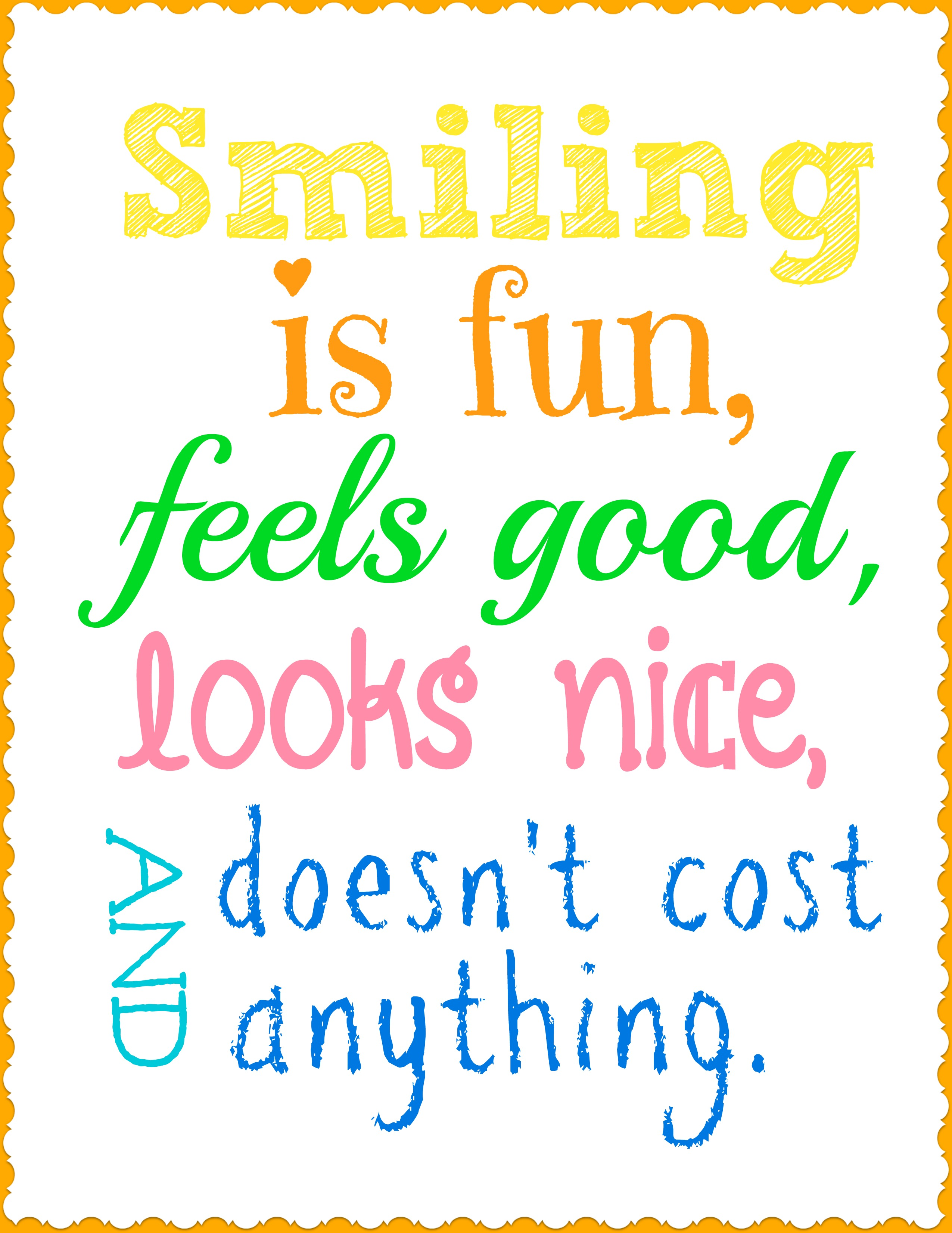 Re building family smile more and a free printable for Free printable funny posters