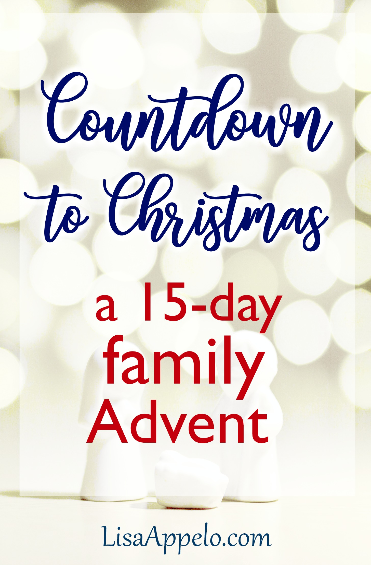 Countdown to Christmas with this Advent scripture reading plan and Nativity activity. #Advent #Christmas #activity #devotional