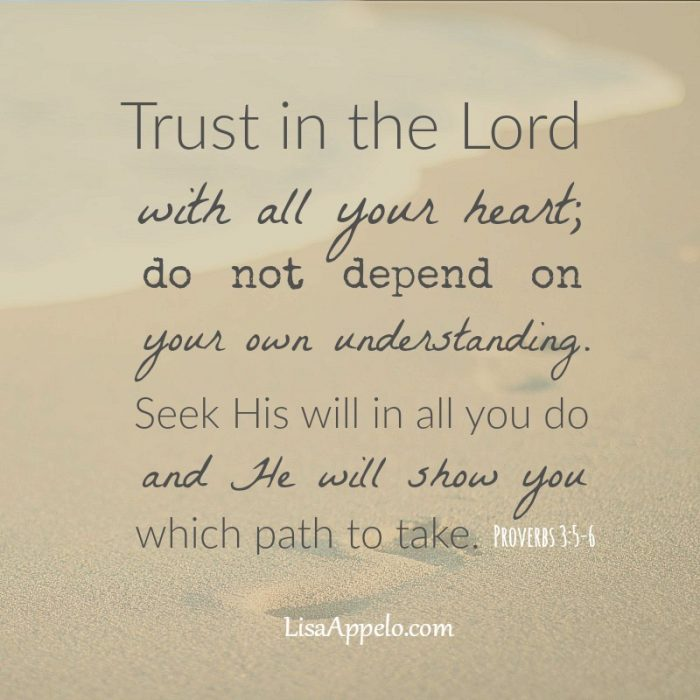 Bible verse | Scripture | Proverbs | Trust in the Lord