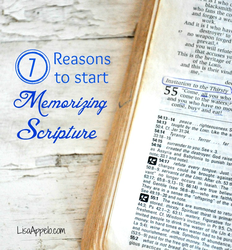 why memorize scripture blog