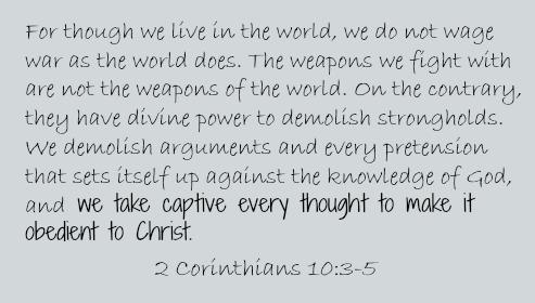 2 corinthians 10.5 quote