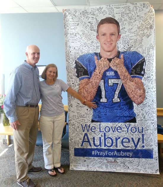 Hundreds of friends visited and prayed as Jim and Sherri spent months at Aubrey's side in the ICU.