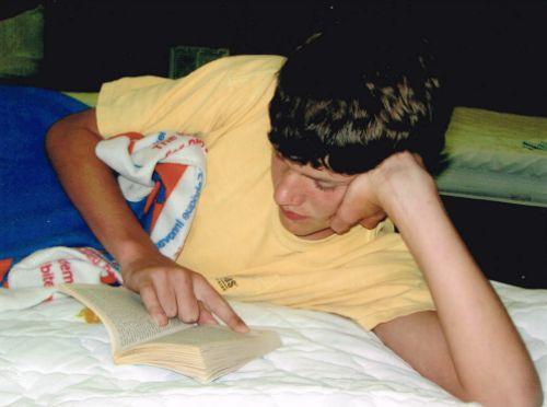 Nick reading