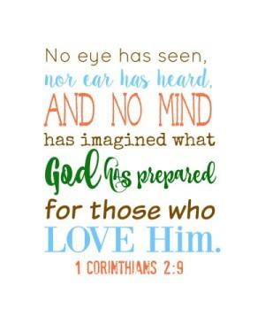 1 Corinthians 2:9 fall printable