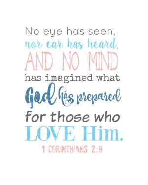 1 Corinthians 2.9 spring printable