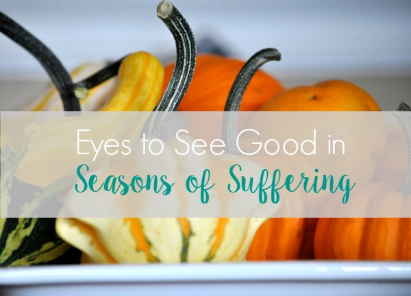 Eyes to See Good in Seasons of Suffering