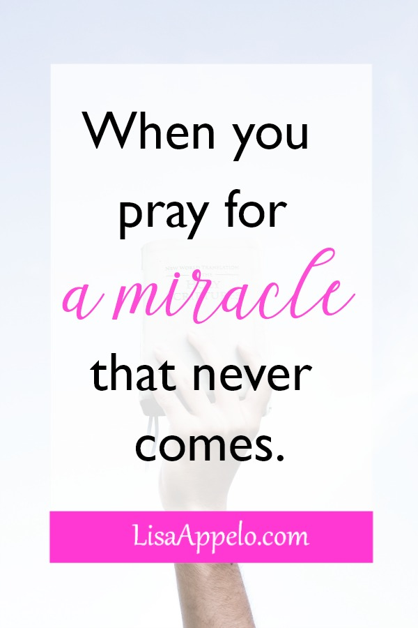 Why does God give some a miracle and not others? 5 truths when you pray for a miracle that never comes. #prayer #miracle