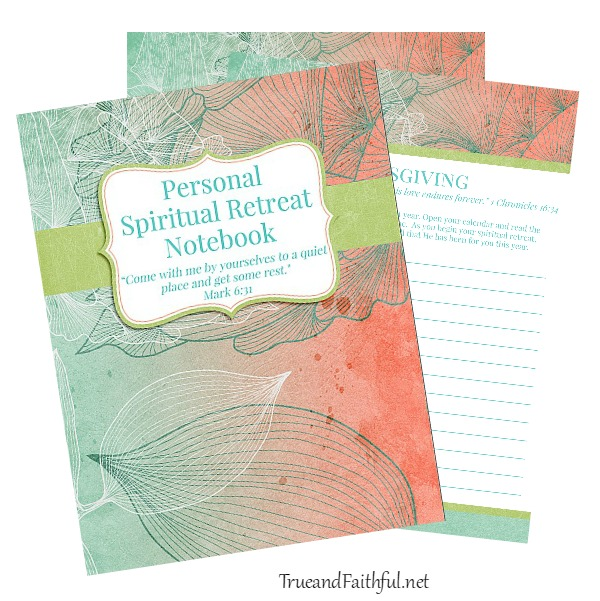 Create your own Personal Spiritual Retreat with this 19-page printable journal that includes thanksgiving, confession, assessment, prayer prompts and more.