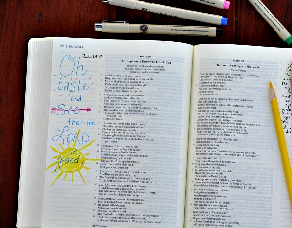 How to start daily Bible journaling.