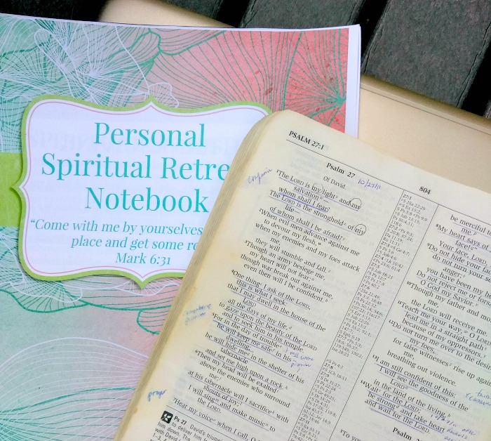 personal spiritual retreat download | free personal retreat notebook | Christian retreat journal