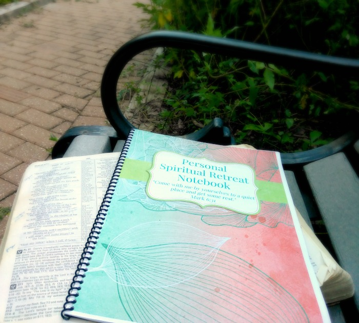 Personal Spiritual Retreat download | personal retreat notebook | free journal