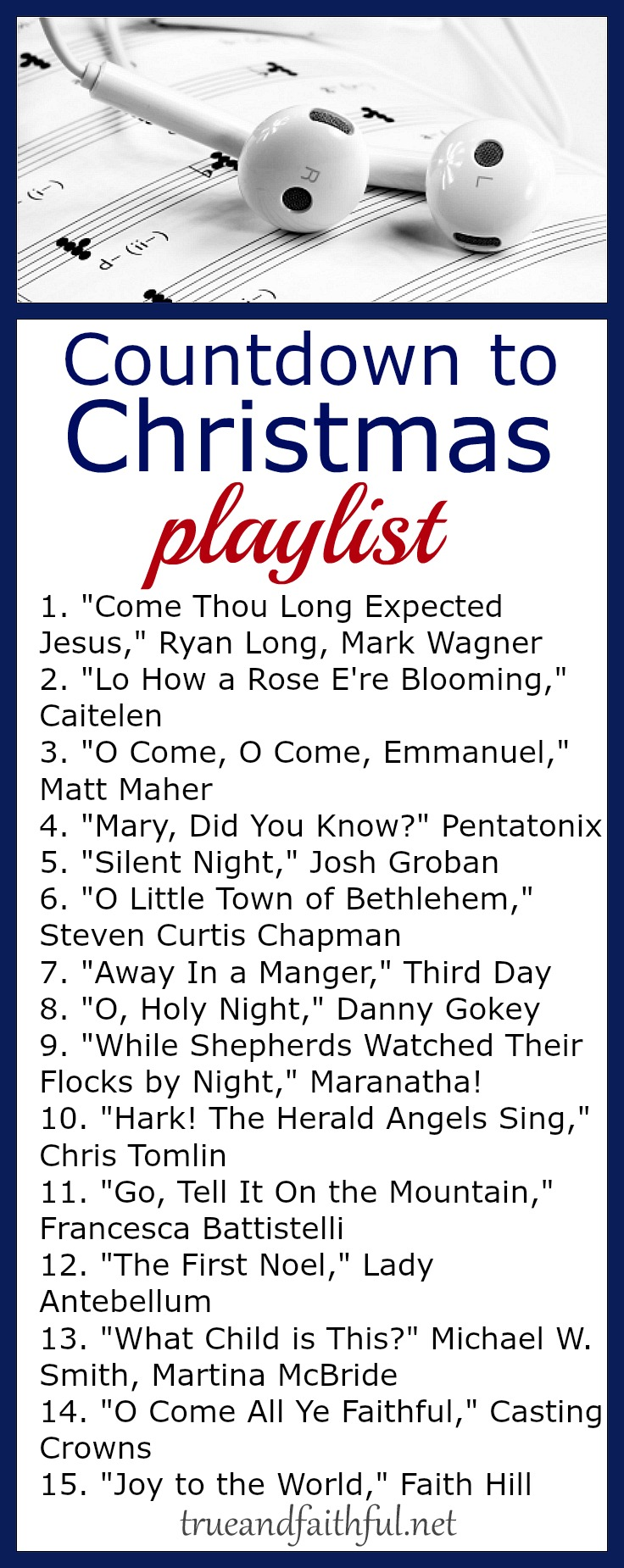 This Christmas playlist is the perfect way to celebrate Advent as you Countdown to Christmas. #Advent #Christmas #Christian #music
