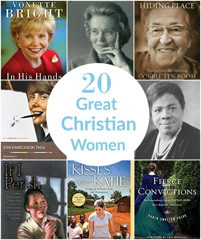 20 Great Christian Women | Christian Women biographies | Christian Women's history month | missionary biographies