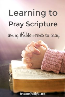 Praying scripture deepens our prayers and helps us pray God's will. Freshen your prayers by praying the Bible.