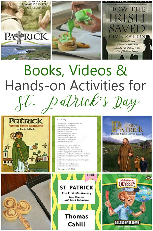 The ultimate guide to celebrate St. Patrick\'s Day; books, videos and hands-on fun for St. Patrick\'s Day; #stpatrick\'sday #stpatrick