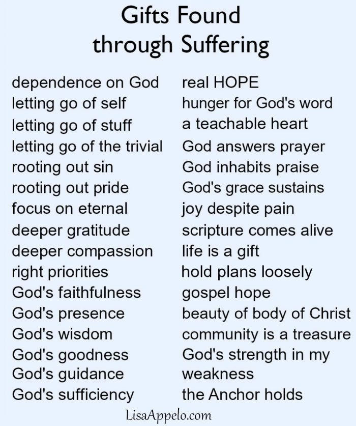 Lessons Learned through Suffering