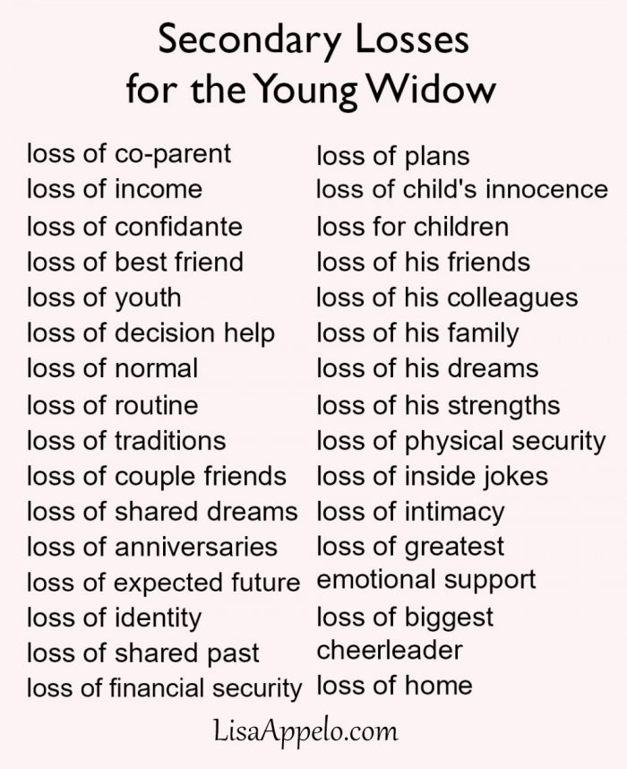secondary losses for young widow