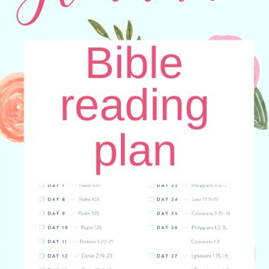 30 day gratitude Bible reading plan