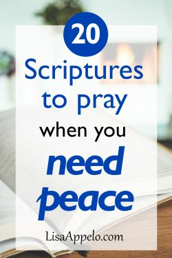 20 scriptures to pray when you need peace